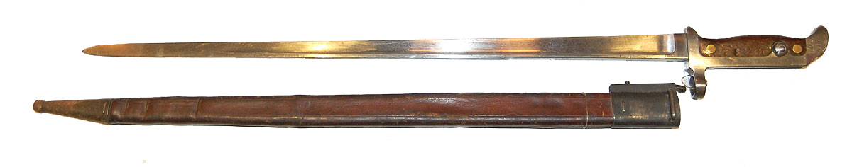 Dansk bajonet M1915 - Brun læderskede